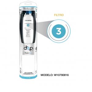 Filtro Whirlpool agua para refrigerador Filtro 3